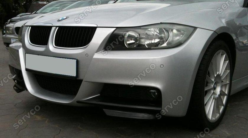 Prelungire extensie lip buza bara fata BMW E90 pt bara pachet M tech 2005-2009 v3