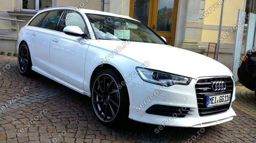 Prelungire extensie spoiler bara fata Audi A6 4G C7 2011 2012 2013 2014 ABT Sline S6