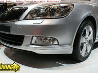 Prelungire extensie spoiler bara fata Skoda Octavia 2 Facelift 2009-
