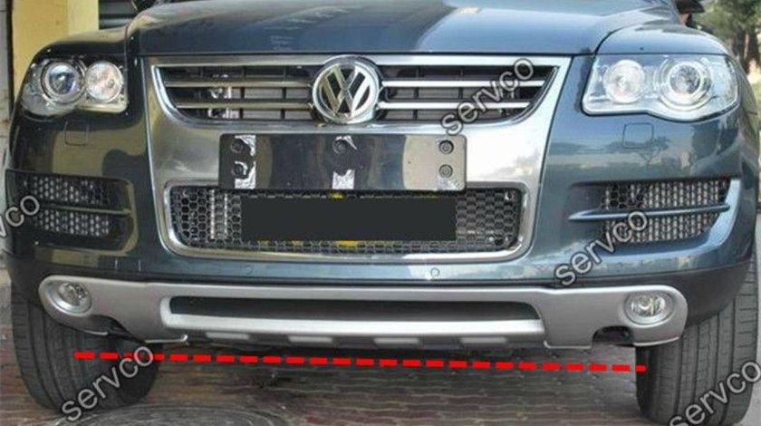 Prelungire Facelift lip buza tuning sport bara fata VW Touareg King Kong R50 Rline 7L 2006-2010 v1
