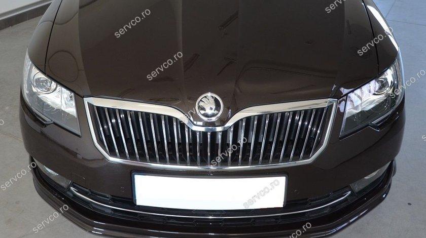 Prelungire Facelift spoiler lip buza tuning sport bara fata Skoda Superb 2 B6 3T 2013-2015 v1