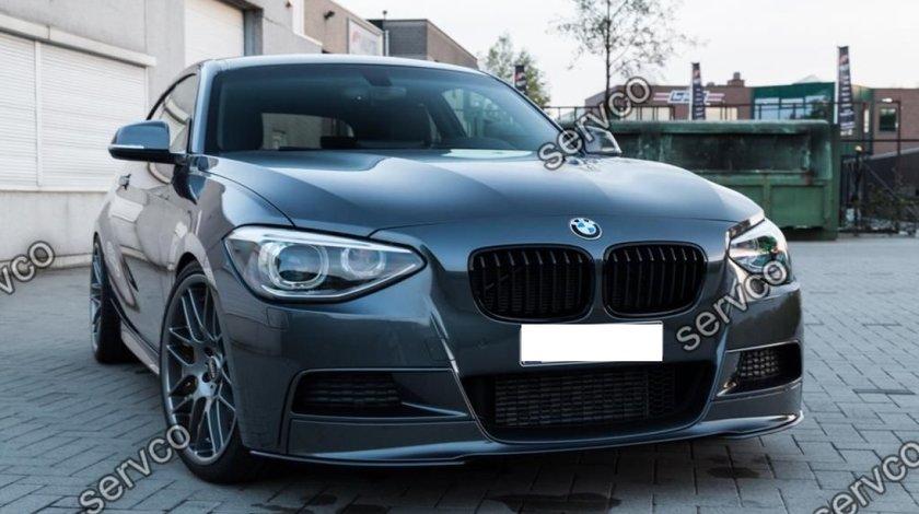 Prelungire fusta lip bara fata BMW F20 F21 Mtech doar pt bara Mpachet 2012-2015 v4