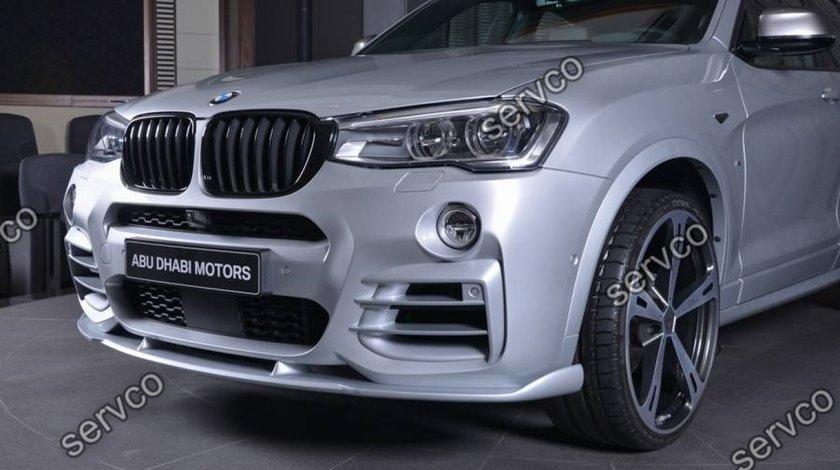 Prelungire fusta lip tuning sport bara fata BMW X4 M doar pt bara fata X4 M 2014-2018 v1