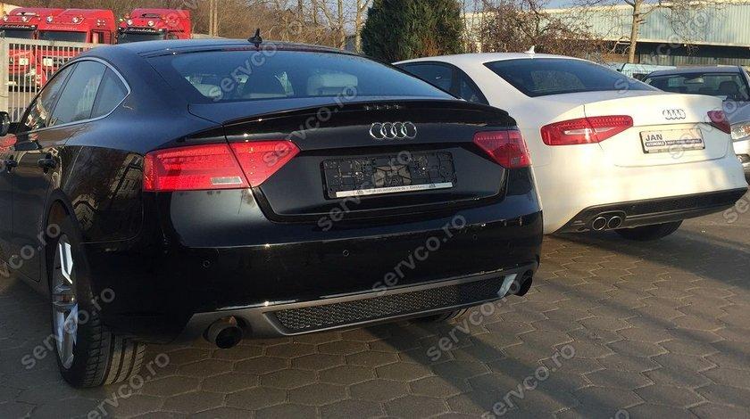Prelungire fusta spoiler adaos evacuare bara spate Audi A5 Sportback Facelit