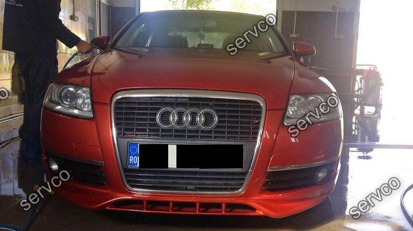 Prelungire fusta spoiler bara fata Audi A6 C6 4F Sline S-line S6 Rs6 2004-2009 ver1