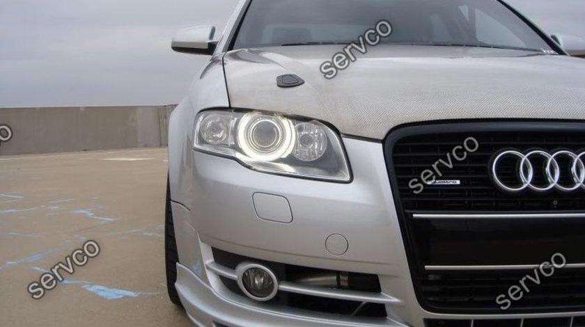 Prelungire fusta spoiler tuning sport bara fata Audi A4 B7 8E 8H ABT Ab look 2005-2007 ver3