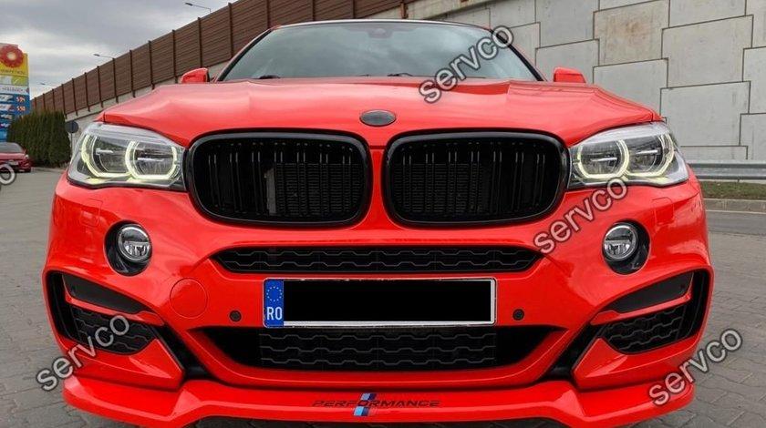 Prelungire lip adaos bara fata BMW X6 F16 Mpack 2015- v1