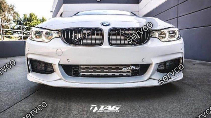 Prelungire lip bara fata BMW Seria 4 F32 F33 F36 ACS AC SCHNITZER M pack Aero sport M4 tech ver3