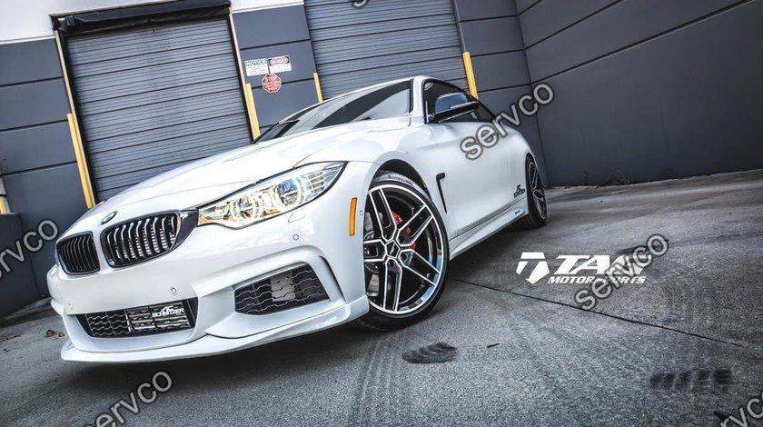 Prelungire lip bara fata BMW Seria 4 F32 F33 F36 ACS AC SCHNITZER M pack Aero M4 ver3