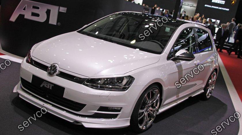 Prelungire lip buza ABT tuning sport bara fata VW Golf 7 Mk7 2012-2016 v2