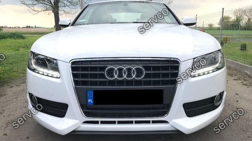Prelungire lip buza bara fata Audi A5 Coupe Sportback 2007-2012 v5