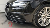 Prelungire lip buza bara fata Audi A7 4G8 Facelift...