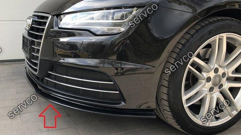 Prelungire lip buza bara fata Audi A7 4G8 Facelift 2014-2017 v1