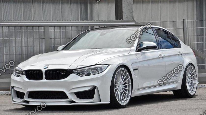 Prelungire lip buza bara fata BMW M3 F80 F30 F31 2014-2019 v1