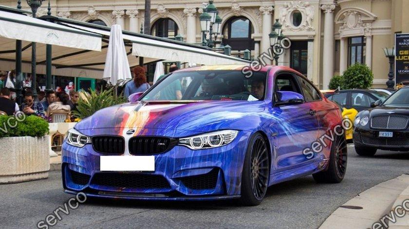 Prelungire lip buza bara fata BMW M4 F82 F83 GTS CS doar pt bara M4 2014-2019 v1