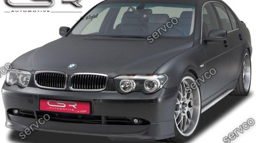 Prelungire lip buza bara fata BMW Seria 7 E65 E66 CSR FA028 2001-2005 v1