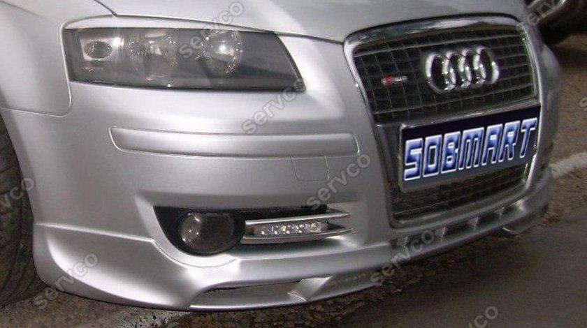 Prelungire lip buza fusta bara fata Audi A3 8P Coupe S3 S line 2003-2008 v3