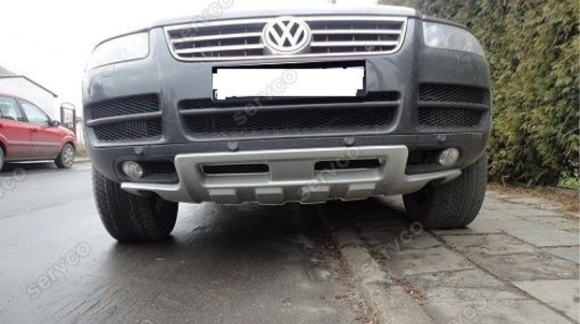 Prelungire lip buza King Kong spoiler bara fata VW Touareg R50 Rline 2002-2006 v1