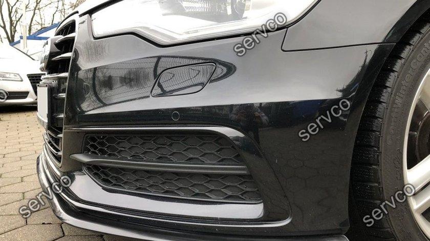 Prelungire lip buza splitter tuning bara fata Audi A6 C7 S-line 2012-2014 v4