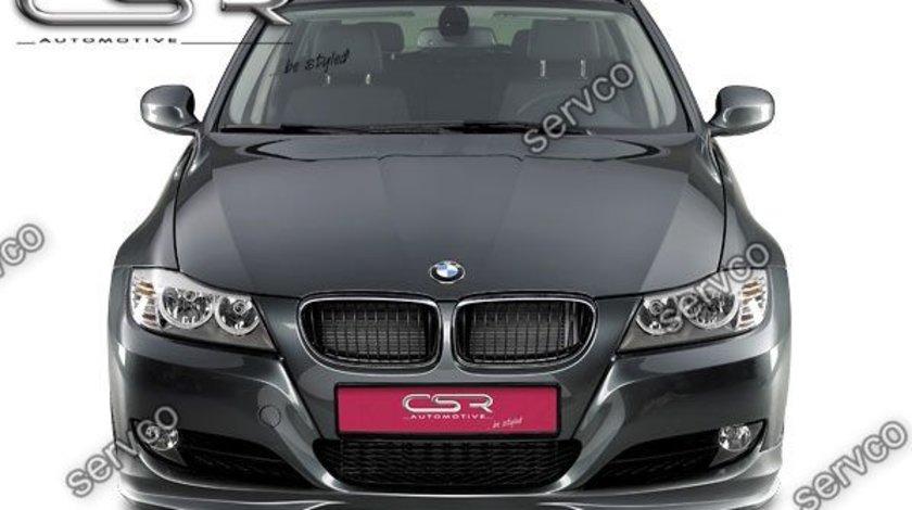 Prelungire lip buza spoiler bara fata BMW E90 E91 LCI facelift FA117 CSR 2009-2012 v9