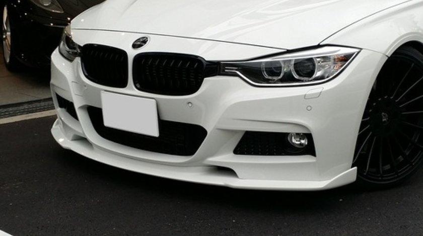 Prelungire lip buza spoiler bara fata BMW F30 Hamann pt bara Mpachet 2012-2016 v1