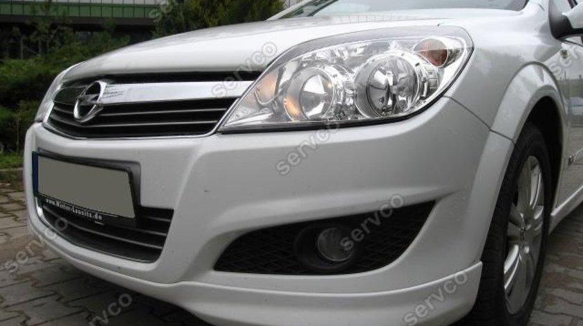 Prelungire lip buza spoiler tuning sport bara fata Opel Astra Facelift H Opc Line 2007-2009 v1
