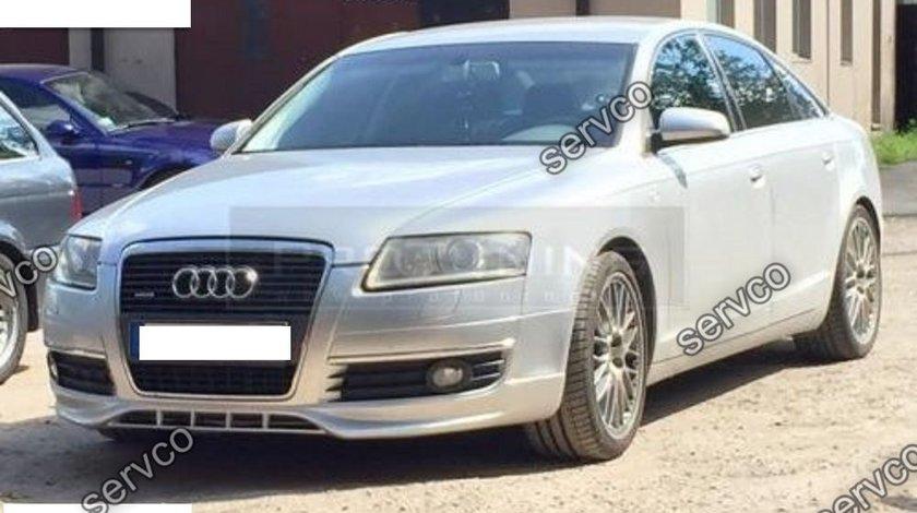 Prelungire lip buza spoiler tuning sport bara fata Audi A6 C6 4F S line S6 RS6 2004-2008 v1
