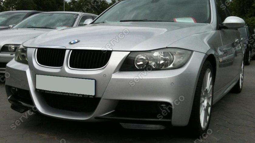Prelungire lip buza spoiler tuning sport bara fata BMW Seria 3 E90  2005-2009 v3