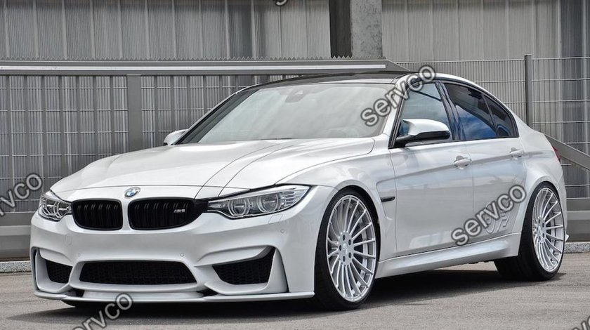 Prelungire lip buza tuning sport bara fata BMW M3 doar pt bara M3 2014-2019 v1