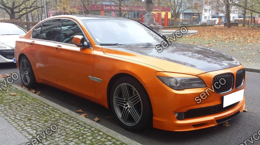 Prelungire lip buza tuning sport bara fata BMW Seria 7 F01 F02 Alpina 2008-2012 v1