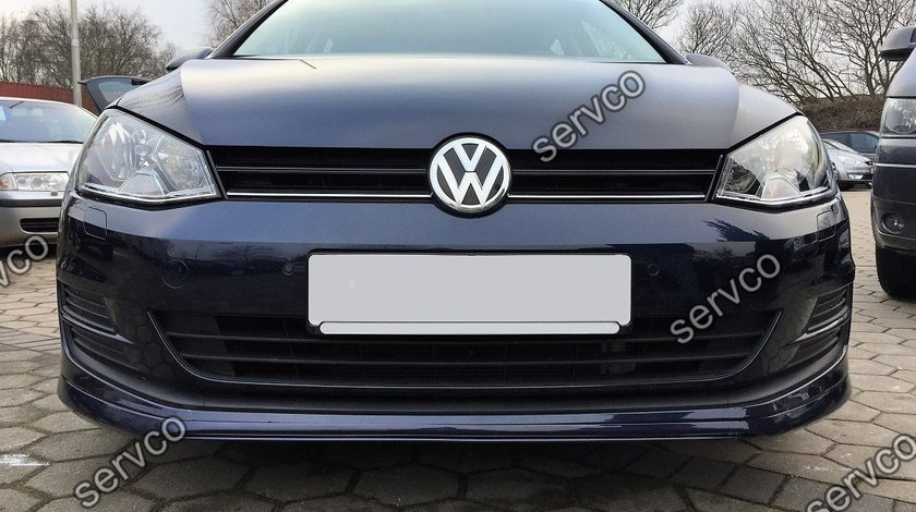 Prelungire lip buza Votex tuning sport bara fata VW Golf 7 Rline 2012-2016 v1