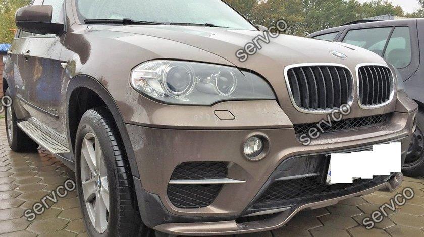Prelungire lip difuzor bara fata BMW X5 E70 LCI Facelit M Pachet Aero Performance10-13 v2