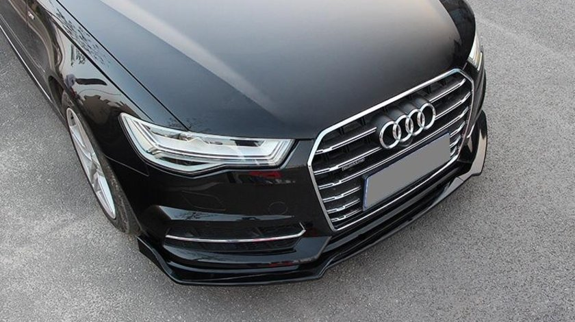 Prelungire lip fusta bara fata Audi A6 C7 Facelift 2014-2016 v2