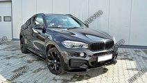 Prelungire lip fusta spoiler bara fata BMW X6 F16 ...