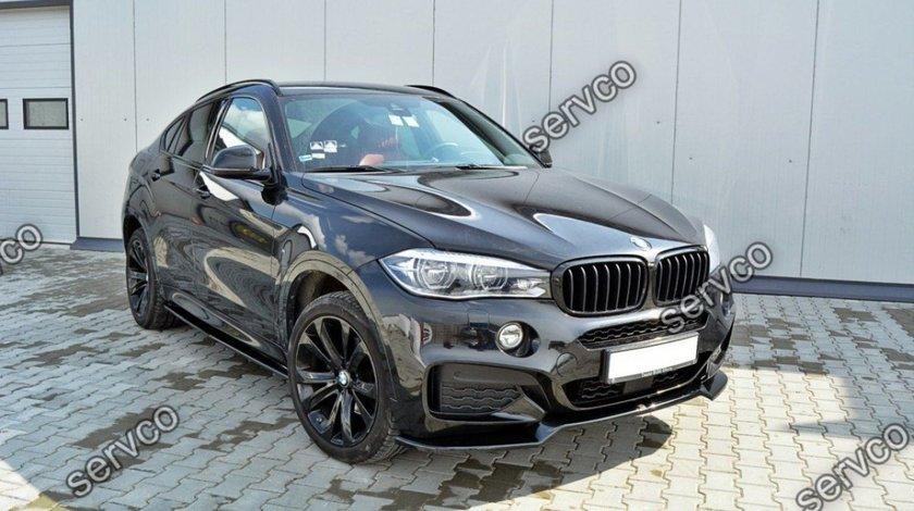 Prelungire lip fusta spoiler bara fata BMW X6 F16 M M50D Performance Aero Pack Sport v1