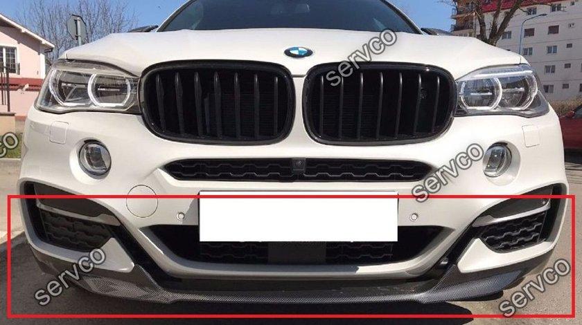 Prelungire lip fusta spoiler bara fata BMW X6 F16 M Performance Aero Pack Sport ver1