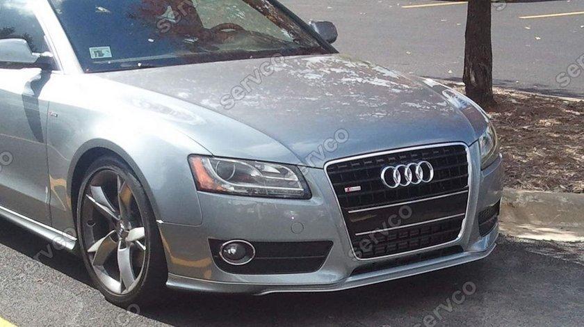 Prelungire lip Sline Votex tuning sport bara fata Audi A5 Coupe Cabrio S5 RS5 2007-2012 v2