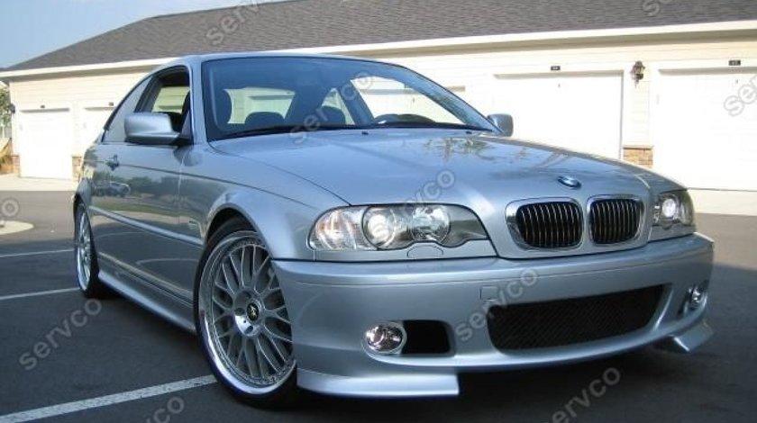 Prelungire ornament adaos fusta extensie lip buza bara fata BMW E46 seria 3 Mpachet 1998-2005 v3