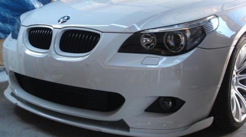 Prelungire ornament difuzor adaos fusta extensie lip buza bara fata BMW E60 Hamann M pachet