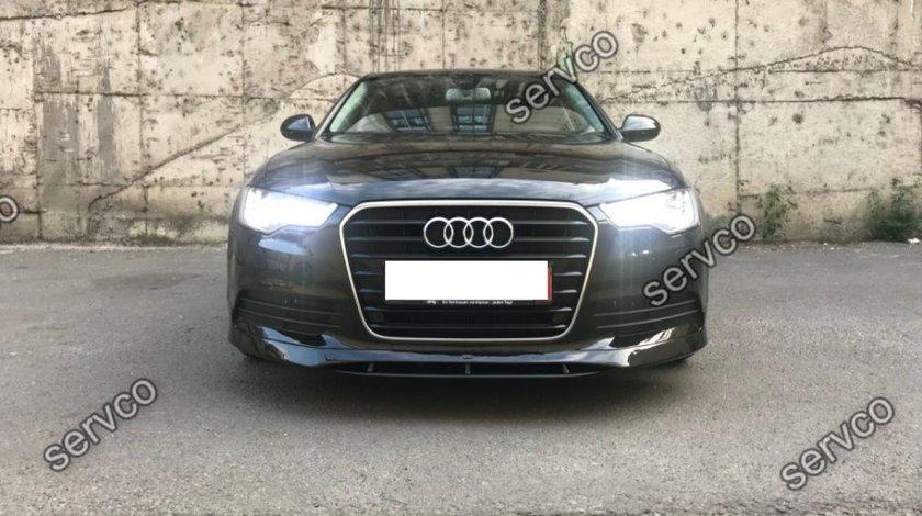 Prelungire ornament lip buza spoiler bara fata Audi A6 4G C7 ABT Sline S6 Rs6 v1