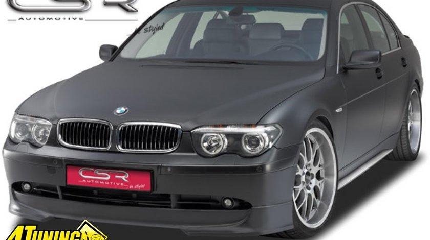 Prelungire Prelungiri Spoiler Sub Bara Fata din plastic ABS BMW Seria 7 E65 E66 2001 2005 non LCI fara facelift FA028