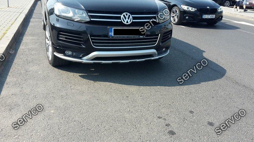 Prelungire Rline lip buza tuning sport bara fata VW Touareg 7P5 Off Road 2011-2015 v1