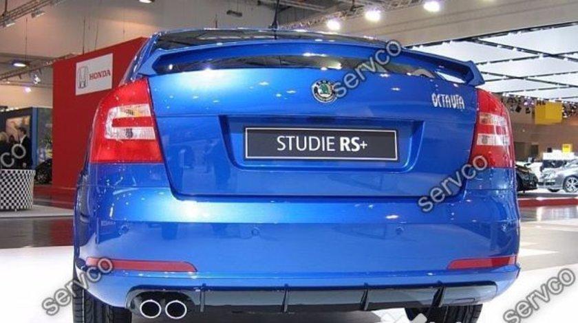 Prelungire RS lip buza bara spate Skoda Octavia 2 1Z Facelift pt bara normala 2008-2013 v1