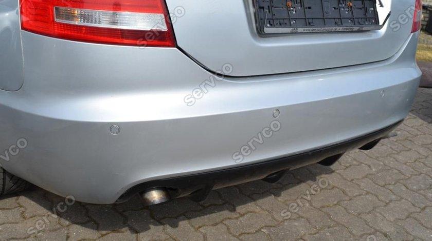 Prelungire S line spoiler tuning sport bara spate Audi A6 C6 4F Sedan RS6 S6 04-08 v1