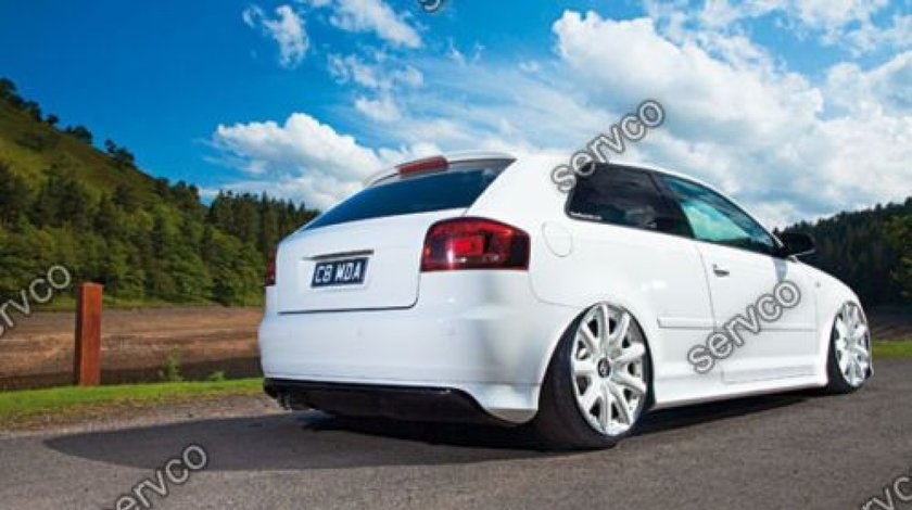 Prelungire S3 Sline lip tuning sport bara spate Audi A3 8P Coupe RS3 2005-2008 v1