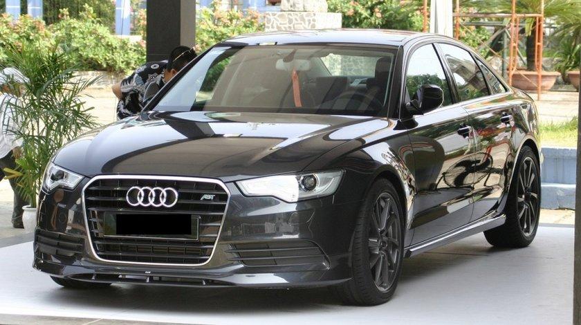 Prelungire Sline adaos fusta spoiler bara fata Audi A6 4G C7 ABT S6 Rs6 2011-2014 v1