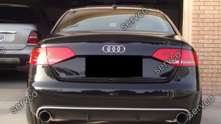 Prelungire Sline difuzor fusta tuning sport bara spate Audi A4 B8 8K S4 RS4 2008-2012 v3