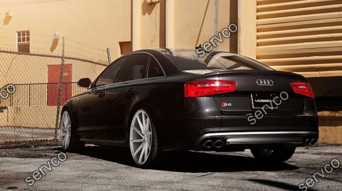 Prelungire Sline lip buza difuzor tuning sport bara spate Audi A6 4G C7 RS6 S6 2011-2014 v3