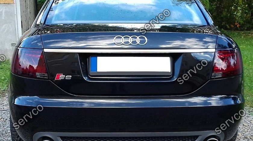 Prelungire Sline lip evacuare tuning sport bara spate Audi A6 C6 S6 Rs6 Limuzina 2004-2008 v3
