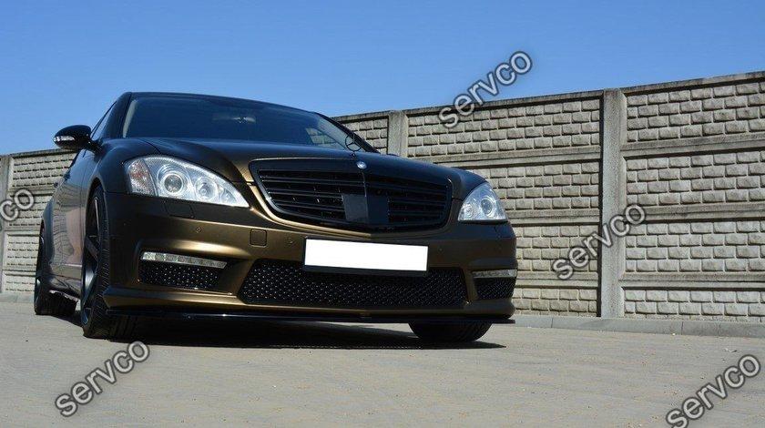 Prelungire splitter bara fata Mercedes S Class W221 AMG 2009-2013 v2